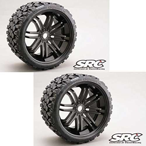 ck Terrain Crusher Belted Tire Preglued on Black Wheel (2pc) ()