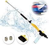 Brizer Hydro Jet High Pressure Power Washer Wand – 30 Inch + 9 Inch Long Extendable Sprayer, Hose Nozzle, for Car Washer, Window Water Cleaner, Glass Cleaning Tool, 2 Tips