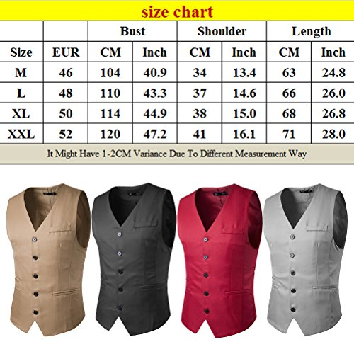 Zhhlaixing Dark Respirable Dress Gray Skinny Men's Sleeveless Business Waistcoat Formal Vest Casual BBvwOqrx