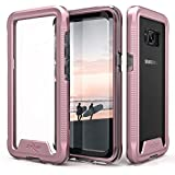 Samsung Galaxy S8 Plus Case, Zizo [ION Series] w/ FREE [Samsung Galaxy S8 Plus Screen Protector] Crystal Clear [Military Grade] for S8+ Rose Gold/Clear
