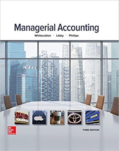 Managerial Accounting Stacey M Whitecotton Associate