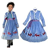 EsTong Girls Snow Princess Fancy Cosplay Dress Winter Toddlers Halloween Costume Party Dress Up Style Two 9-10T