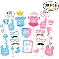 30-Pk. Tinksky Birthday Party Gender Reveal Photo Booth Props
