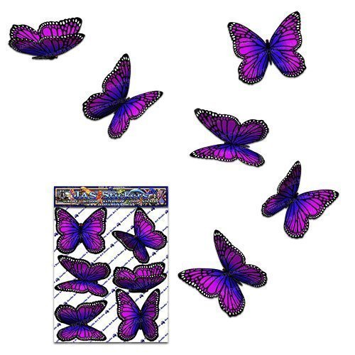 Butterfly Pink Wanderer Animal Small Car Sticker Decal Pack for Laptop Caravans, Trucks, Boats - ST00028PK_SML - JAS Stickers
