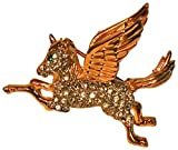 PEGASUS PIN-WITH ALL OVER PAVE CRYSTALS AND GREEN CRYSTAL EYE