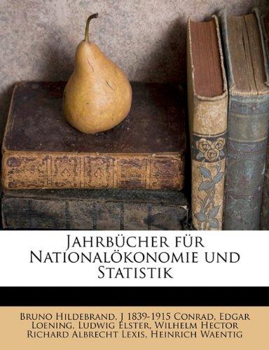 Download Jahrbücher für Nationalökonomie und Statistik (German Edition) ebook
