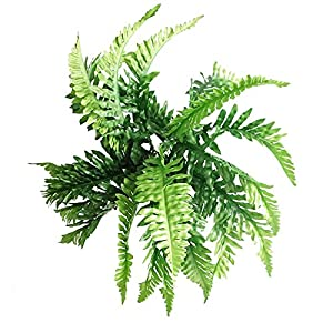 Fake Faux Artificial Boston Ferns Plants Greenery Bushes for Indoor Outside Home Garden Party Decor 4 Bunches 24 Leaves Per Bunch 3