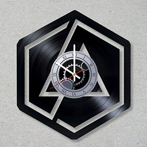 Clock Bennington (Vinyl Record Wall Clock Linkin Park Music Rock Bennington Band Numb Chester decor unique gift ideas for friends him her boys girls World Art Design)