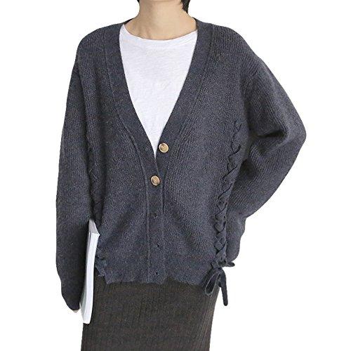 (S.W.グロッシィ) S.W.Grossy レディース 可愛い ケーブル編み リボン カーディガン