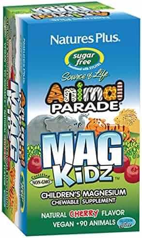 Nature's Plus - Animal Parade MagKidz Children's Chewable Sugarfree -Cherry Flavor, 90 Count