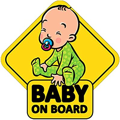 Baby on Board Sign Sticker,Reflective Vehicle Car Signs Kids Safety Warning Sticker for Driver,Safety Caution Sign Stickers for All Cars,4 Pack