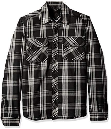 Dickies Men's Modern Fit Snap Front Shirt Jacket, Grayridge Graphite Plaid, XL (Jacket Front Shirt Snap)