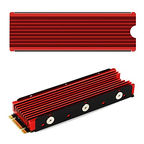 - NVMe M.2 Heat Sink Cooler for 2280 M2 red