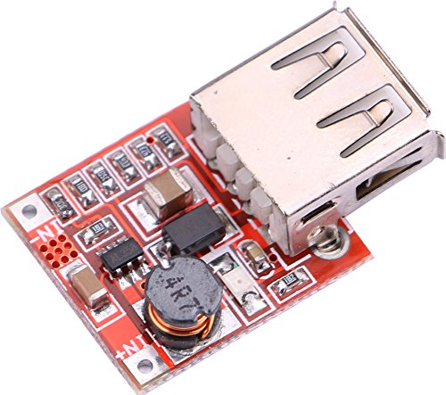 Yeeco Non-isolated DC Power Converter 2.5-6V to 5V USB Voltage Converter Boost Step Up Power Supply Module Board for MP3/MP4/Mobile Phone Charging - 2.5 Non