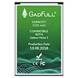 GadFull Battery Compatible with Samsung Galaxy Note 3 Battery | 2018 Production Date | Corresponds to The Original EB-B800BE | Compatible with Galaxy Note 3 GT-N9000 | GT-N9005 | GT-N 9006 |GT-N9009