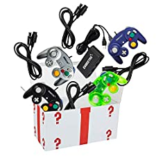 4 Controllers, 4 Extension Cables, and a 4-Port Adapter Set – Compatible with Gamecube, Wii U/Switch/PC by EVORETRO …
