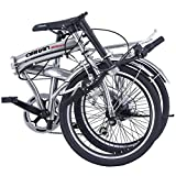 "ORKAN 20"" MTB Folding bike Sports Shimano 6 Speed Silver Bike SLIVER"