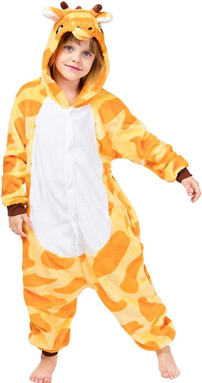Unicorn Jumpsuit Kids Playsuit Girls Animal Hooded Fleece Onesies One Piece Pyjamas or Robe Cosplay Pajamas Costume Halloween Chistmas Sleepwear 2-10 Years