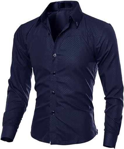 ECOSWAY Camisas Casuales Para Hombres Nueva Camisa De Vestir ...