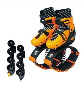 Bounceblade Rollerblade Hybrid Fitness Shoe orange fits EURO 35-38, kids 3.5-6, women's 4-7