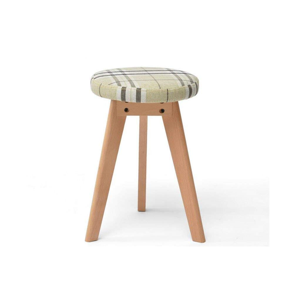 Agdgjrkjk MuMa Wooden Chair Meal Stool Household Solid Wood Can not Be Layered Seat Cover Removable (Color : -, Size : -)