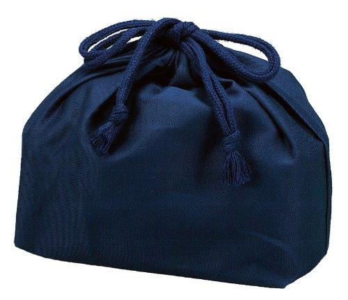 Mens navy blue 53870 elongated HAKOYA drawstring bag (japan import)