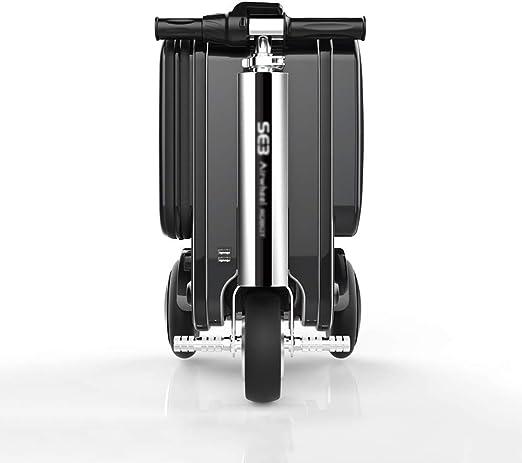 DHSHOP - Maleta de Bicicleta eléctrica Inteligente, Equipaje, Bolsa de Viaje, Equipaje, Marco de aleación de Aluminio de Grado aeronáutico, Negro, Plata, Cuatro Ruedas (49 cm x 58 cm, 30 L): Amazon.es: Hogar