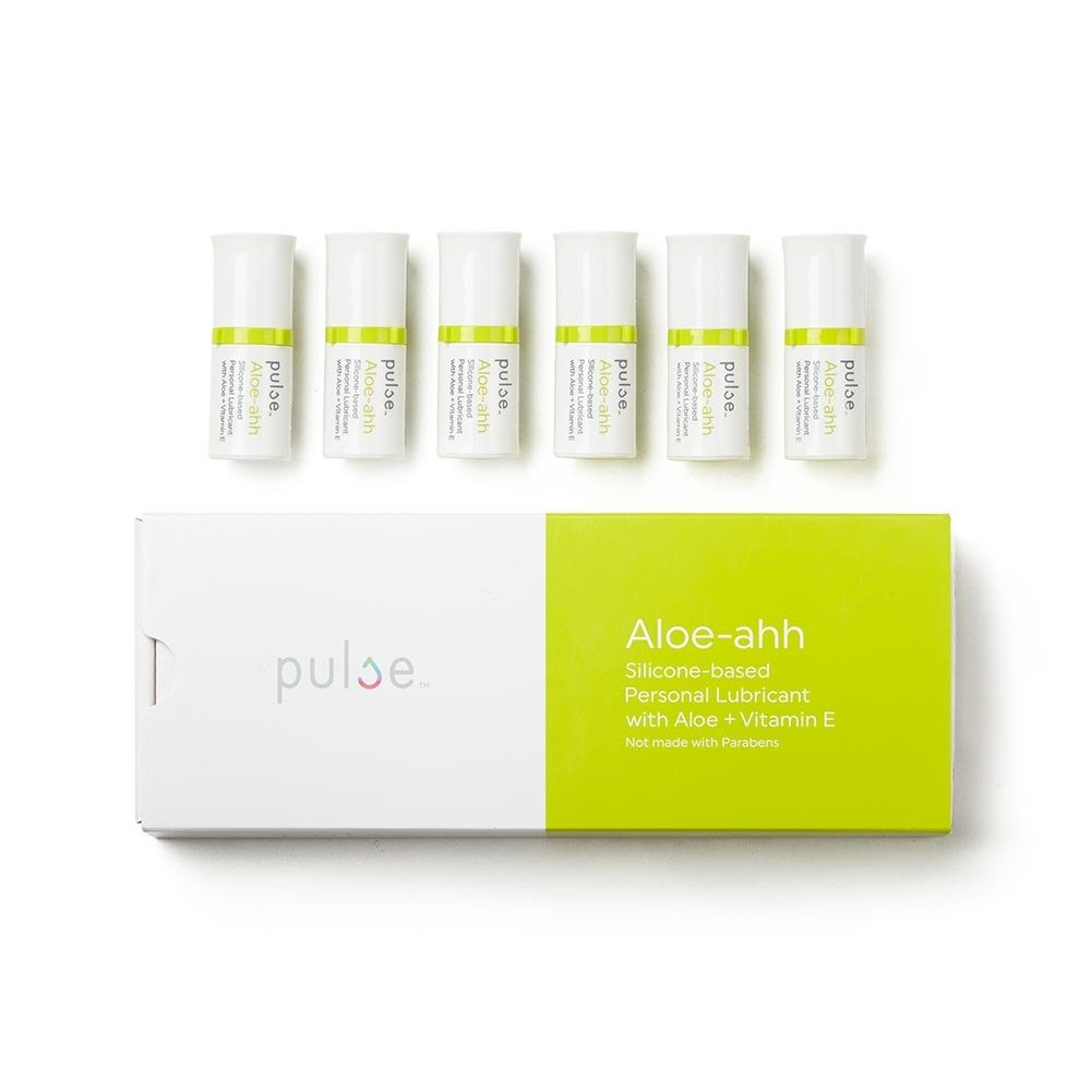 Pulse Aloe-ahh Natural Non-Sticky For Sensitive Skin Silicone Based Personal Lubricant- FDA Cleared- 6 Pods 6.7 ml Each