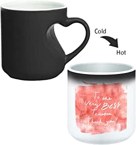 Magic Mug with inner heart handle For Coffee or tea By decalac, mugHM-BLK-02202