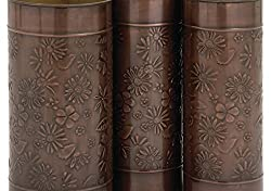 "Deco 79 68865 Lovely Floral Themed Umbrella Stand, Set of 3, 9"" W x 19"" H"