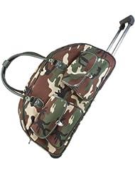 Ever Moda Camo Rolling Duffle Bag
