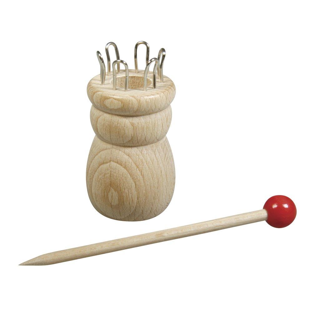 Rayher 62475000/ 3,4/cm, 100/% madera FSC, 6,2/cm, 6/ojales, di/ámetro del orificio: 1,5/cm /Tricot/ín con aguja