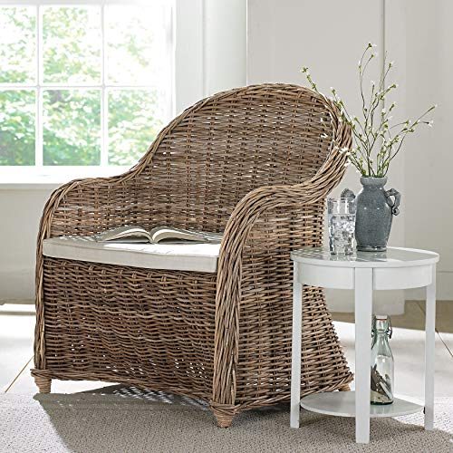 (BrylaneHome Whitman Oversized Wicker Chair)