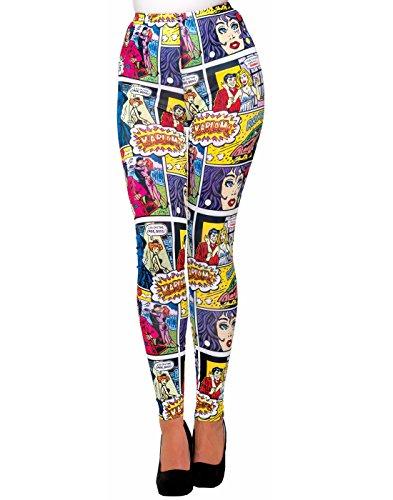 Forum Novelties Women's Pop Art Comic Printed Leggings]()