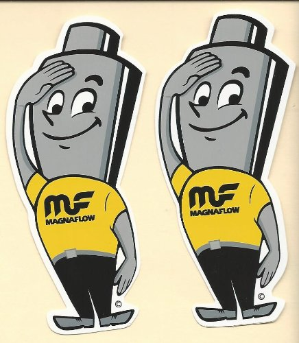 Magnaflow Muffler Man Racing Decals Stickers 2 Inches Long Size Set of 2 -