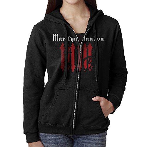 Women Marilyn Manson Hoodie Sweatshirt Black