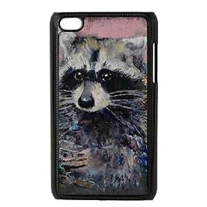 iPod Touch 4 Case Black RACCOON Xhbxr