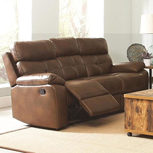 Coaster 601691 Home Furnishings Motion Sofa, Brown