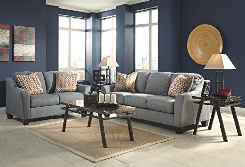 Ashley Furniture Signature Design - Hannin Loveseat Sofa - Contemporary 2 Seat Couch - Gray Lagoon