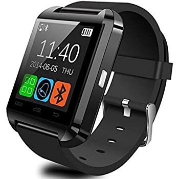 U Watch Smart Watch Bluetooth Watch for Android smartphones and iPhone(Black)