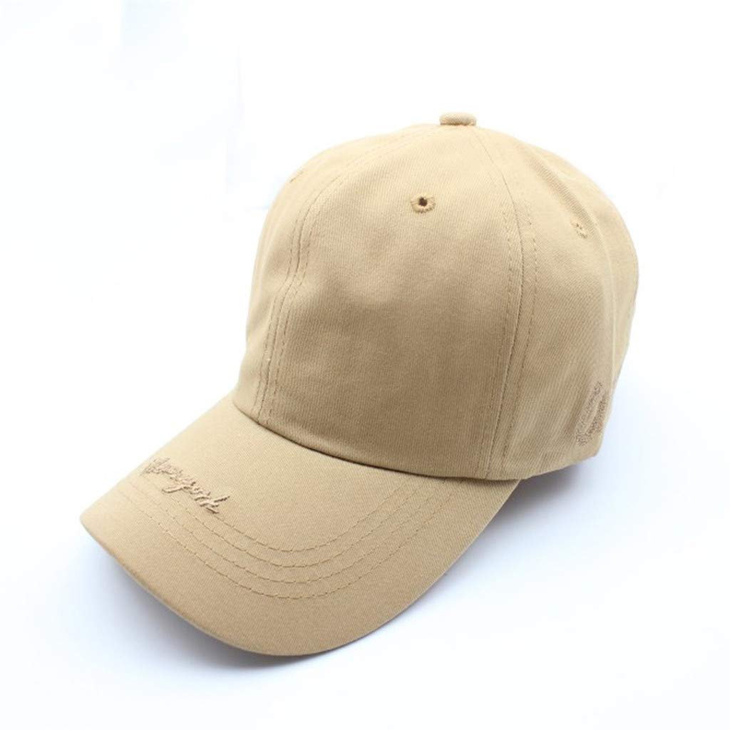 f971585a5aee8 Amazon.com  2019 Womens Mans Cotton Baseball Cap Embroidered Unisex Solid  Baseball Cool Outdoor Caps Adjustable Hats (Beige)  Baby