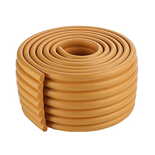 2x2m/13ft Deep Khaki Toddler Corner Guards Rubber Safety Edge Guard Wood Edge Protector for Furniture