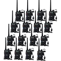 BaoFeng UV-5R Dual Band VHF UHF Two Way Radio (10 Pack) with USB Programming Cable (1 PC)