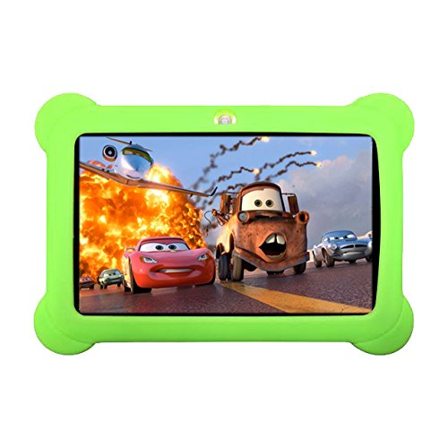 7inch Kids Tablet Google Android 4.4 Quad Core Multi-Touch Screen 4GB Hard Drive Pre-installed Games and Apps, Google Play Store, Kids Desktop etc (ZGreen-4GB)