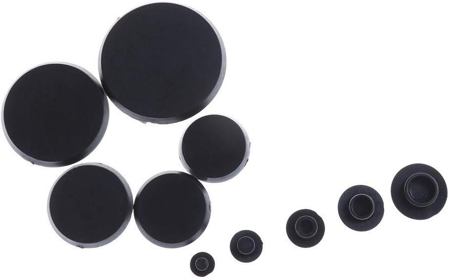 Meets shop 10PCS Pratique Noir for Six pans Vis Fixations Covers Caps Allen Boulon Vis /écrou /à t/ête Ronde Embout Protecteur Taille : M4