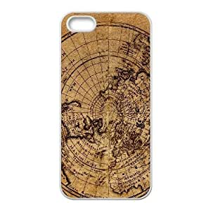 Vintage World Map For iPhone 5, 5S Phone Cases NDG619196