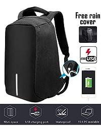 Jasonwell Mochila Laptop Antirrobo USB Puerto de Carga Portátil Mochila de Viaje Business Laptop Bolsa de Escuela Libro Exterior College Fits Most Laptops Mochilas para Hombre y Mujer