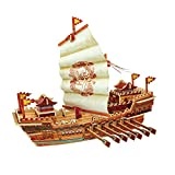 Robotime 3D Wooden Puzzle Model Ship DIY Woodcraft kits Handcraft Birthday Christmas Gift for Boys and Girls(Warship)