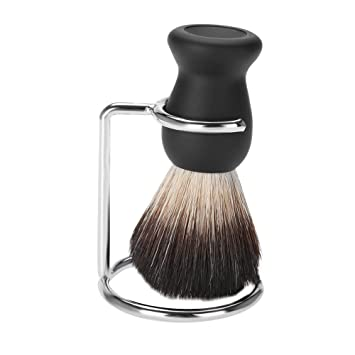 Nickel Metal Alloy Shaving Brush Holder Barber Shaving Beard Brush Stand