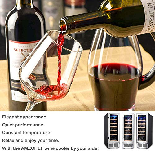 Wine Cooler, Built-in or Freestanding, AMZCHEF 19 Bottle Wine Refrigerator, Quiet, Constant Temperature, Energy Efficient by AMZCHEF (Image #5)